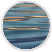 Lights On The Water Round Beach Towel