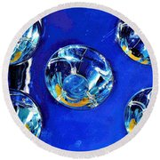 Lights Under Glas Round Beach Towel