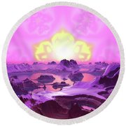 Lightscape 23 Round Beach Towel by Robert Thalmeier