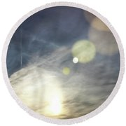 Round Beach Towel featuring the photograph Lightshow by Colleen Kammerer