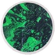 Round Beach Towel featuring the painting LII by Robbie Masso