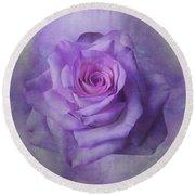 Lilac Purple Rose Round Beach Towel