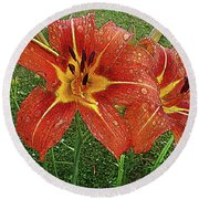Lilium Asiatic Round Beach Towel