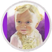 Lillian Round Beach Towel