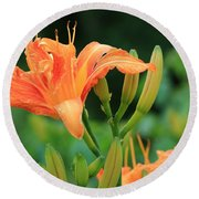 Lily Of The Evening Round Beach Towel
