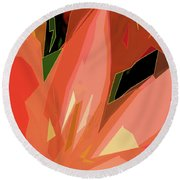 Lily #3 Round Beach Towel