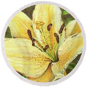Lily Dream Round Beach Towel