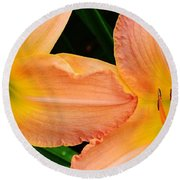 Lily Duo Round Beach Towel