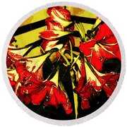 Round Beach Towel featuring the digital art Lily Gem by Winsome Gunning