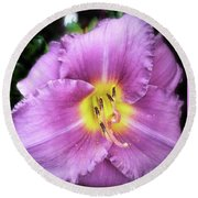 Lily In The Shade Round Beach Towel