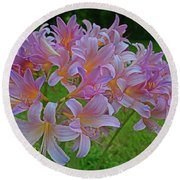 Lily Lavender Round Beach Towel