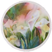 Lily Light II Round Beach Towel