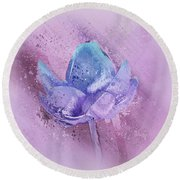 Round Beach Towel featuring the digital art Lily My Lovely - S113sqc77 by Variance Collections