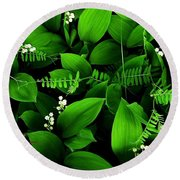 Lily Of The Valley Round Beach Towel by Elfriede Fulda