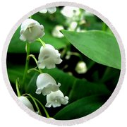 Lily Of The Valley  Round Beach Towel by Michelle Calkins