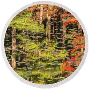 Lily Pad Abstract II Round Beach Towel