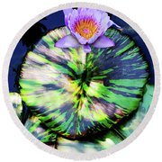 Lily Pad And Lily Round Beach Towel