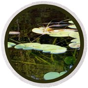 Lily Pads On The Lake Round Beach Towel