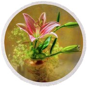Lily Pot Round Beach Towel by Larry Bishop