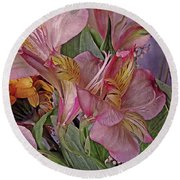 Lily Profusion 7 Round Beach Towel