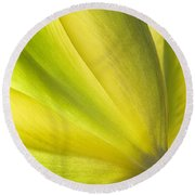 Lime Tulip Round Beach Towel