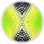 Round Beach Towel featuring the digital art Limelight by Shawna Rowe