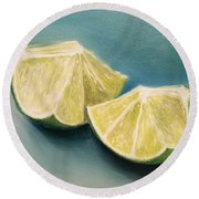 Limes Round Beach Towel