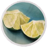 Limes Round Beach Towel