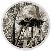 Round Beach Towel featuring the photograph Limited Water Supply by Linda Lees