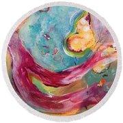 Limitless Round Beach Towel by Gail Butters Cohen