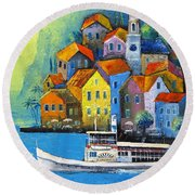 Limone Round Beach Towel