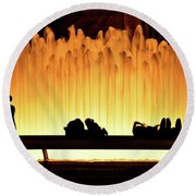 Lincoln Center Fountain Round Beach Towel