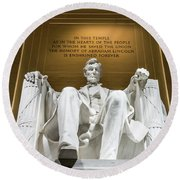 Lincoln Memorial 2 Round Beach Towel