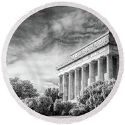 Lincoln Memorial Round Beach Towel by Paul Seymour