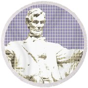 Lincoln Memorial - Violet Round Beach Towel