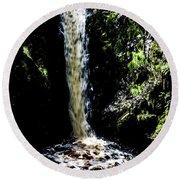 Linhope Spout Waterfall Round Beach Towel