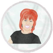Lindsey Stirling Round Beach Towel