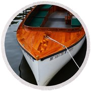 Lindy Lou Wood Boat Round Beach Towel