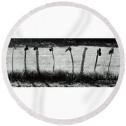 Line Dancing Round Beach Towel
