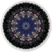Line Up Kaleidoscope Round Beach Towel by Judy Wolinsky