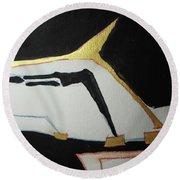 Linear-1 Round Beach Towel