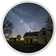 Round Beach Towel featuring the photograph Linear by Aaron J Groen
