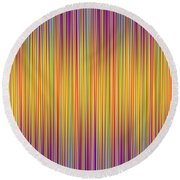 Round Beach Towel featuring the digital art Lines 102 by Bruce Stanfield
