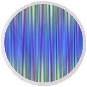 Round Beach Towel featuring the digital art Lines 103 by Bruce Stanfield