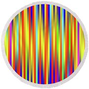 Round Beach Towel featuring the digital art Lines 17 by Bruce Stanfield