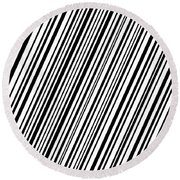 Round Beach Towel featuring the digital art Lines 7 Diag by Bruce Stanfield