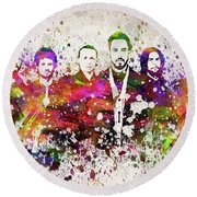 Linkin Park In Color Round Beach Towel