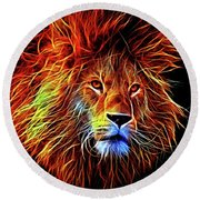Lion 12818 Round Beach Towel