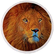 Lion 16218 Round Beach Towel