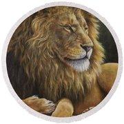 Lion Around Round Beach Towel